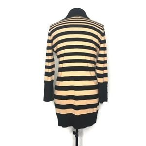 Say What? Dresses - Say What Black Brown Striped Sweater Dress A090656